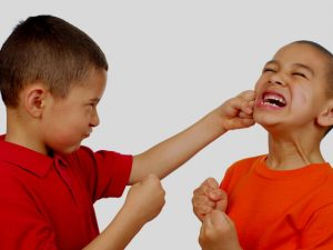 Image of children displaying bad behaviour
