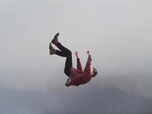 A man falling from a height